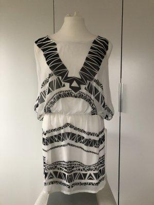 Orsay Summer Dress white-black