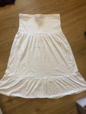 Blue Motion Corsage Dress white