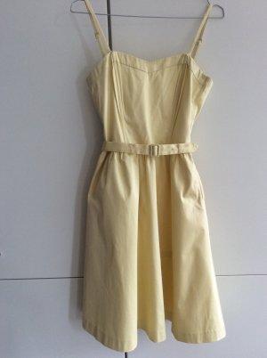 H&M Sukienka gorsetowa żółty