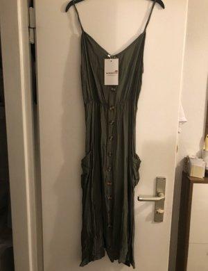 Vestido elástico caqui