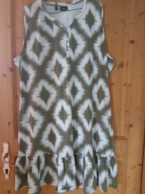 b.p.c. Bonprix Collection Abito jersey bianco-verde oliva