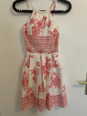 no name Jersey Dress white-raspberry-red
