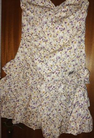 Khujo Sukienka bez ramiączek kremowy