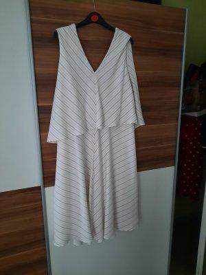 C&A Vestido de Verano blanco-rojo frambuesa