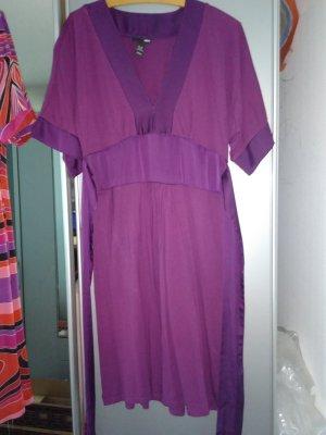 H&M Vestido tipo túnica violeta oscuro Viscosa