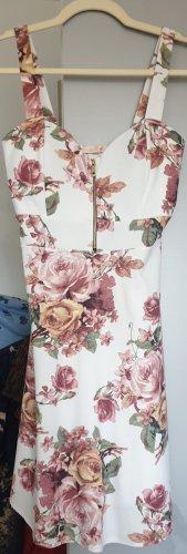 Sukienka plażowa kremowy-różowy