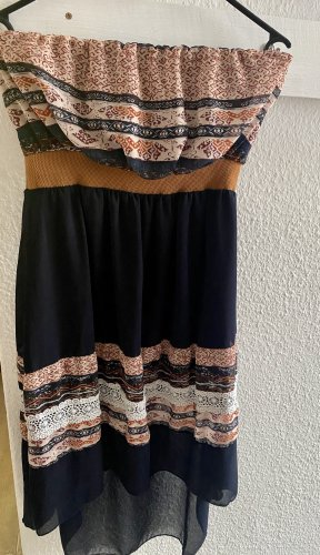 Bandeau Dress dark blue-brown