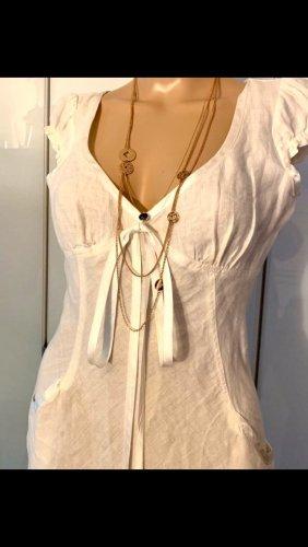 Tara jarmon Vestido de manga corta blanco