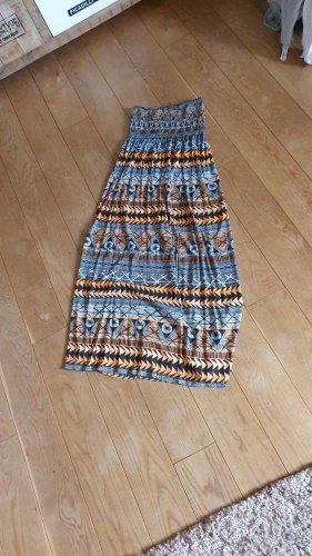 Robe Hippie orange coton