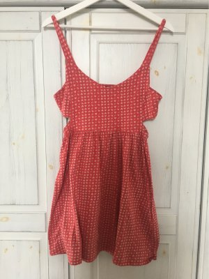 Cut Out Dress dark red-natural white
