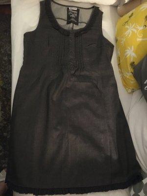 Street One Vestido vaquero gris antracita Algodón