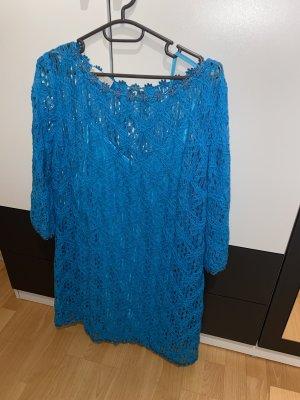 BSB Collection Robe chemisier bleu-bleu azur