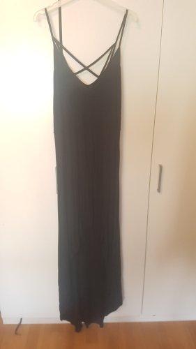 Boohoo High Low Dress black