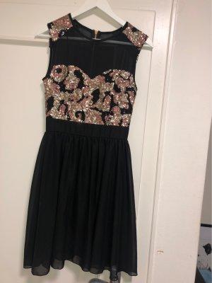 Sequin Dress black-salmon