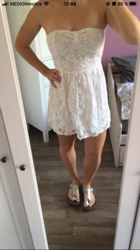 Abercrombie & Fitch Off-The-Shoulder Dress white