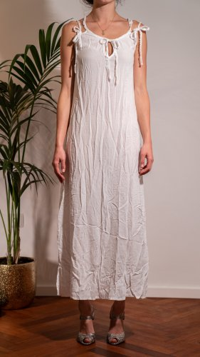 40Weft Robe longue blanc