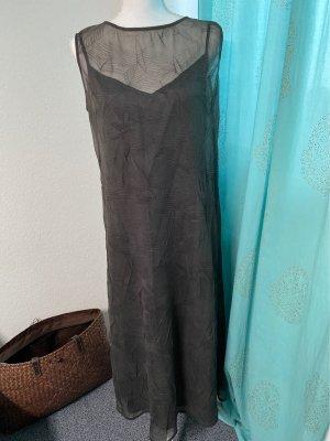 René Lezard Chiffon Dress dark grey