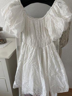 Vestido de un hombro blanco