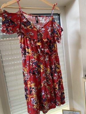 Colours of the World Sukienka na ramiączkach ciemnoczerwony-biały
