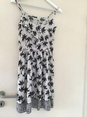 Gina Pinafore dress white-black