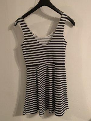H&M Vestido playero blanco-azul oscuro