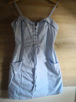 Amisu Vestido con enagua azul claro