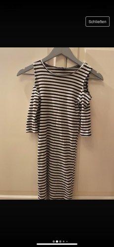 Reserved Cut out jurk zwart-wit