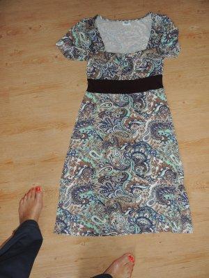 Beach Time Jersey Dress blue-brown viscose