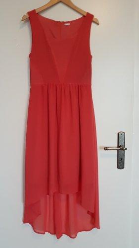 Vestito vokuhila rosso chiaro-rosa