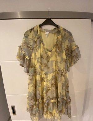 H&M Sukienka maxi bladożółty