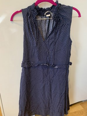 H&M Vestido estilo camisa azul oscuro