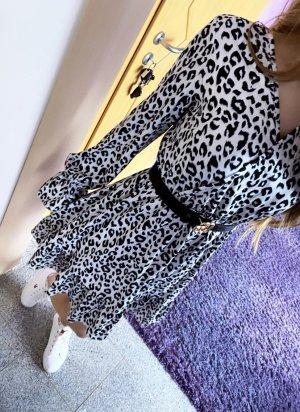 Abendkleid Tunic Dress black-white