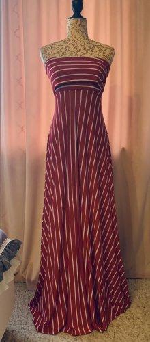 Bon Prix Sukienka o kroju litery A ciemnoczerwony-w kolorze białej wełny