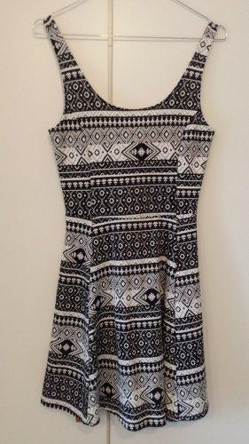 H&M Divided Summer Dress white-black