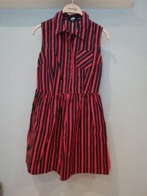 Asos Blouse Dress black-brick red