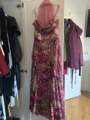 Vestido de baile color rosa dorado-rosa