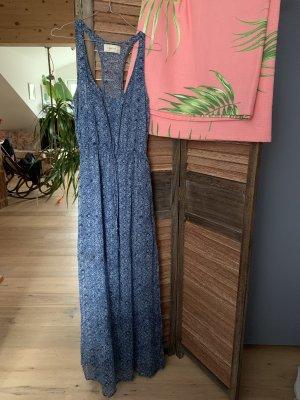 Abercrombie & Fitch Vestido largo azul-blanco