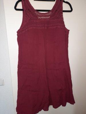 Gina Vestido tipo túnica carmín