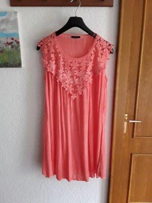 100% Fashion Koronkowa sukienka łosowiowy