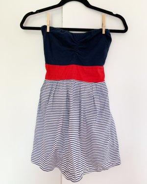 Sommerkleid aus Italien Größe S blau, weiß, rot