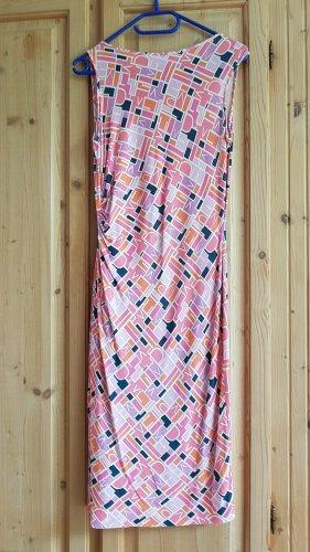 Diana von Fürstenberg Summer Dress pink-white silk