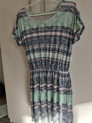 keine Marke Sukienka plażowa jasnoniebieski-szaro-zielony