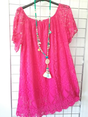 Made in Italy Beach Dress pink
