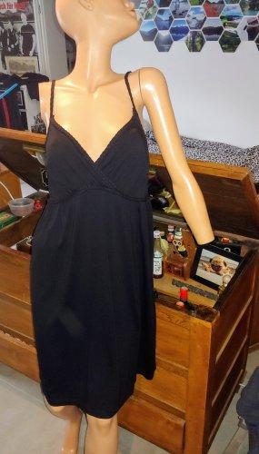 H&M Vestido babydoll negro Viscosa