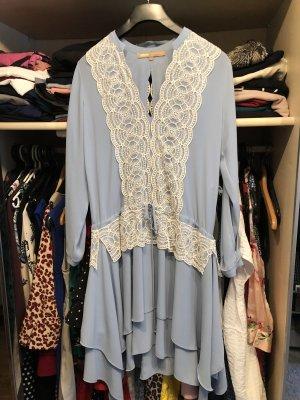 Babylon Kanten jurk wit-babyblauw
