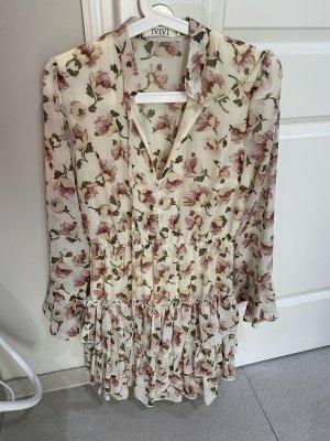 Sommerkleid beige Rose Gr S