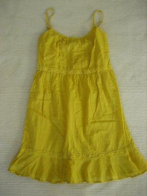 Benetton Sukienka na ramiączkach bladożółty