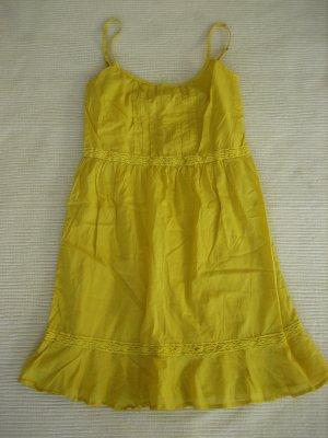 sommerkleid benetton gelb gr. s 36