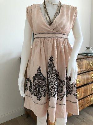 Mango Sukienka mini nude-czarny