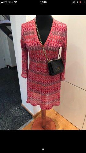 Ana Alcazar Vestido de cóctel rojo-rosa